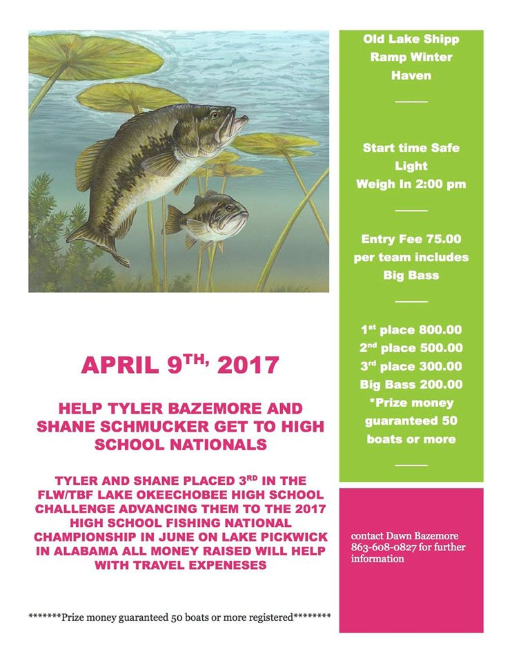 April 2017 for Bass fishing tournaments in florida