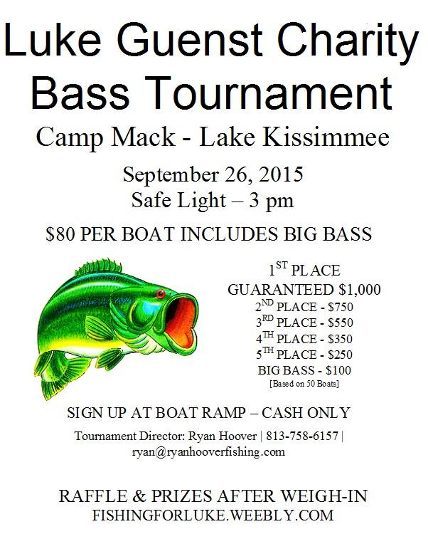 September2 2015 for Bass fishing tournaments in florida